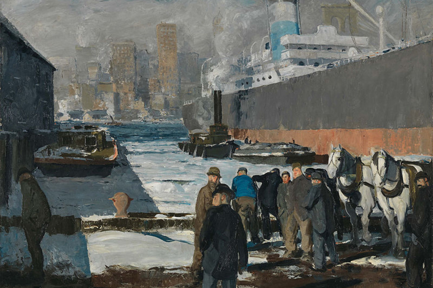 George bellows   men of the docks   1912   the national gallery