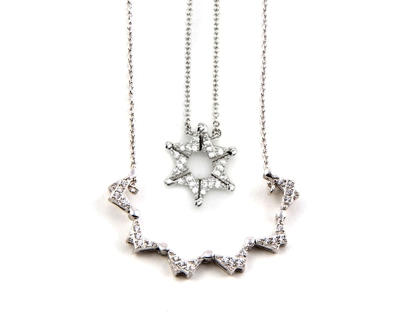 Star of david butterfly necklace