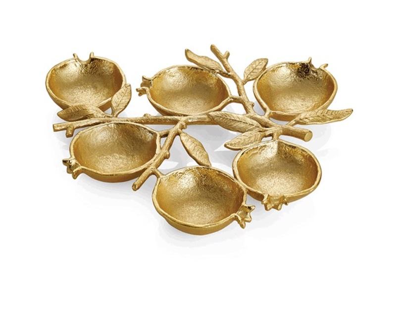 Michael aram golden pomegranate seder plate