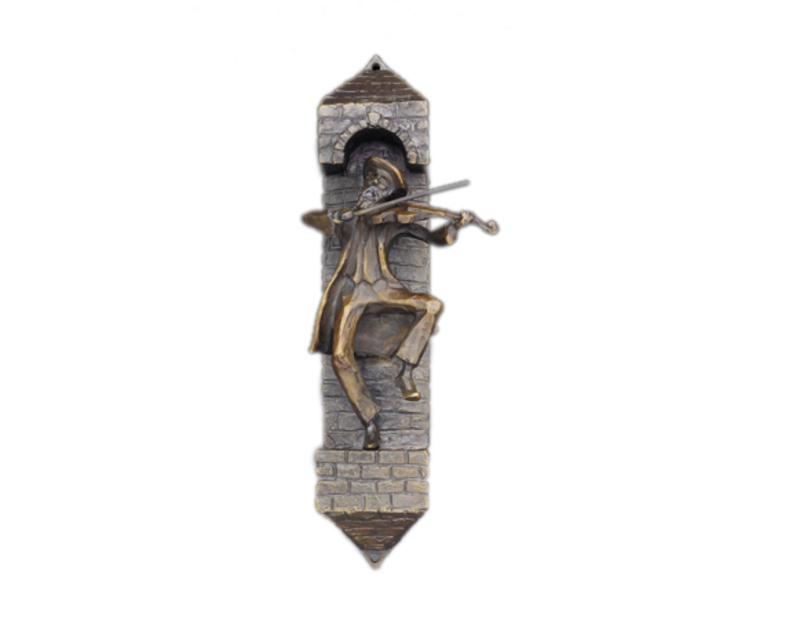 Zachary oxman bronze fiddler mezuzah